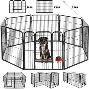 Dog Pen Extra Large Indoor Outdoor Dog Fence Playpen Heavy Duty 8 Panels 40 Inches Exercise Pen Dog Crate Cage Kennel