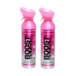 Boost Oxygen Natural 10 Liter Pure Oxygen Canister, Pink Grapefruit (2 Pack)
