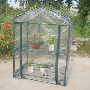 FAGINEY Portable Greenhouse,Mini Flower Plants Garden,Mini Portable Garden Green House Warm Greenhouse Flower Plants Gardening Outdoor(Not included the iron stand)