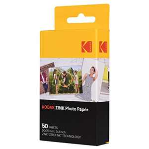 "Kodak 2x3"" Sticky-Backed ZINK Photo Paper (50 Sheets) - Compatible With Kodak Pr"