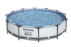 "Bestway Steel Pro Max Swimming Pool Set with 330 GPH Filter Pump, 12' x 30"""