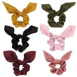 6PCS Hair Scrunchies for Women,Kapmore Fashion Bowknot Hair Tie Hair Rope Hair Accessories