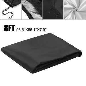 Premium Billiards Pool Table Protective Cover Waterproof and Dustproof Cover Protector Suitable for Tables up to 8 Feet Long,  Nylon Polyester - Black