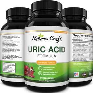 Natures Craft Uric Acid Detox Cleanse Formula Decrease Acidity Green Coffee Bean Chanca Piedra Gallbladder Kidney Health Support Supplement 90ct