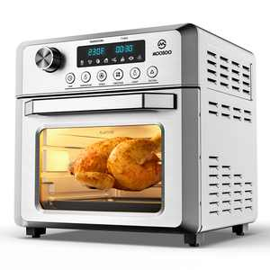 Moosoo 12.7 Quart 1800W Air Fryer Oven 8-in-1 Oil-less Electric Air Fryer with LED Digital Touchscreen, Time & Temperature Dial