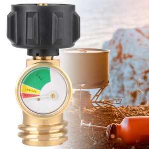 EECOO 250 PSI Propane LP Tank Gauge Gas Grill BBQ RV Pressure Adapter Meter Indicator Brass