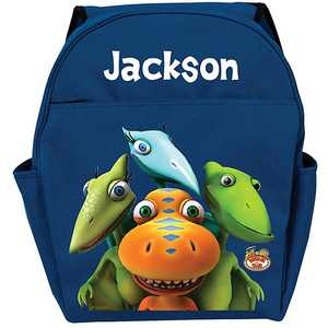 Personalized Dinosaur Train Group Blue Backpack