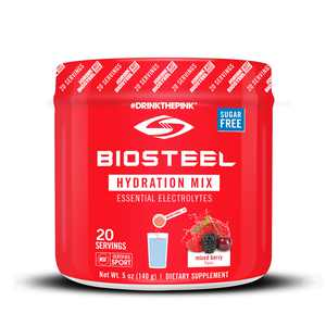 BioSteel Hydration Mix - Sugar Free, Essential Electrolyte Sports Drink Powder - Mixed Berry - 20 Servings