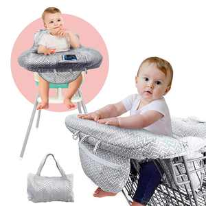 2-in-1 Large Shopping Cart Cover High Chair Cover for Baby or Toddler Compact Universal fit, Easy to Carry, Machine Washable, Baby Cart Cover for Girls and Boys