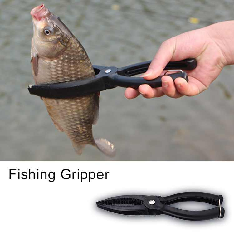 Yosoo Fishing Gripper Gear Tool ABS Grip Tackle Fish Lip Holder Trigger Clamp,Fishing Gripper, Grip Fishing Gear