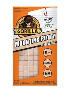 Gorilla Glue Beige 2 oz Mounting Putty Pre-Cut Sqaures, 84 Count