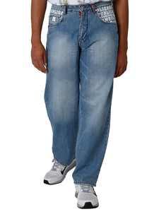 Blanco Label Men's Loose Fit 5 Pocket jeans Light Washed & Embellished Pocket