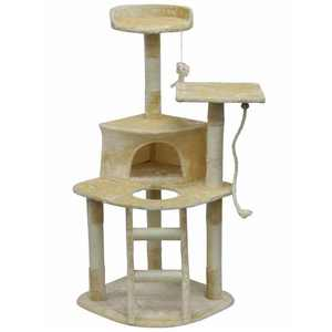 Go Pet Club Cat Tree & Condo Scratching Post Tower, Multicolor