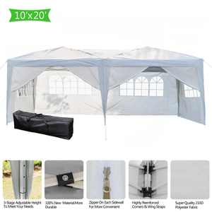 Zimtown 10' x 20' Pop up Canopy Tent Waterproof Folding Tent w/6 with Carry Bag White