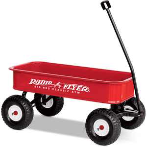Radio Flyer, Big Red Classic ATW Wagon, All-Terrain Air Tires, Red