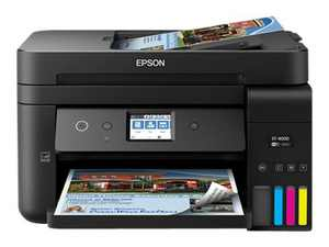 Epson WorkForce ST-4000 EcoTank Color MFP Supertank Printer - Multifunction printer - color - ink-jet - refillable - 8.5 in x 14 in (original) - A4/Legal (media) - up to 11 ppm (copying) - up to 15 ppm (printing) - 250 sheets - 33.6 Kbps - USB 2.0, LAN, Wi-Fi(n)
