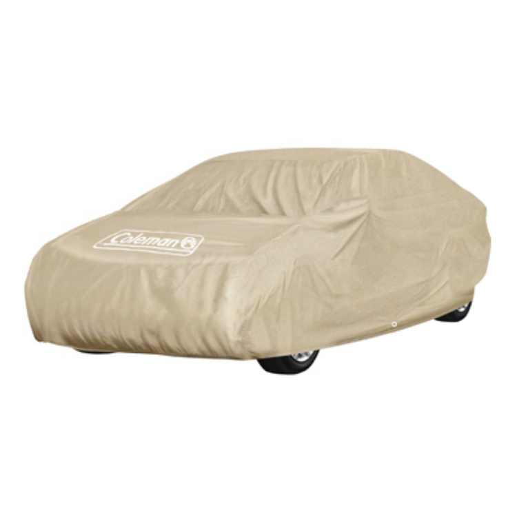 Coleman CMCAR-EX-MM Super Soft Fabric Executive Car Cover, Beige, Medium