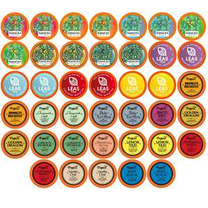 Two Rivers Medium Roast Assorted FLAVORED Tea Pods,  Keurig 2.0 K-Cup Brewer Compatible, Variety Sampler,  40 Count