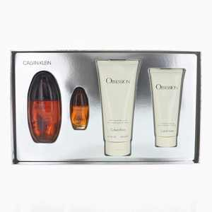 Calvin Klein Obsession Perfume Gift Set for Women, 4 Pieces