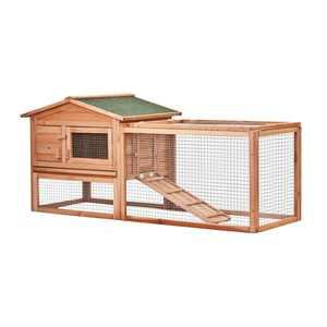 ALEKO ACCRH62X23X30 Multi Level Wooden Chicken Coop or Rabbit Hutch - 62 x 23 x 30 Inches