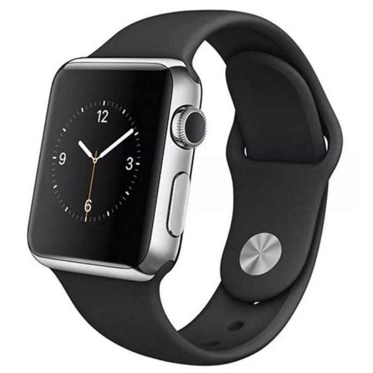 Refurbished Apple Watch Series 2 38mm Stainless Steel Case - Black Sport Band