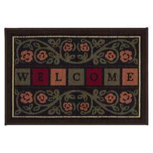 "Ottomanson Ottohome Welcome Indoor/OutdoorEasy Clean Doormat, Multicolor, 20""X30"""