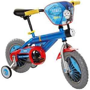 Thomas & Friends Kid's 12 inch Beginner Bike with Training Wheels, Thomas the Train