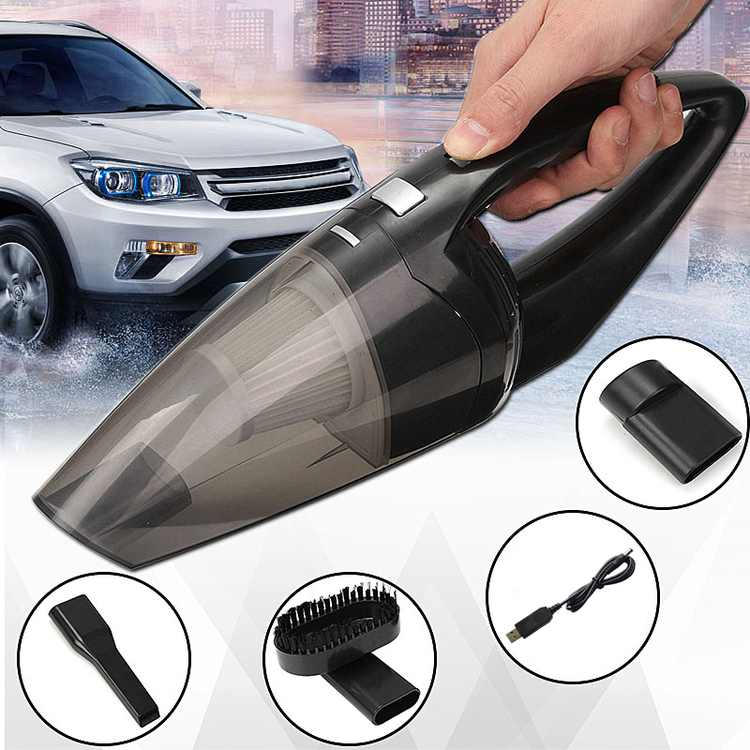 120W Car Vacuum Cleaner Strong Cyclonic Suction Dust Catcher Car Auto Home Dual Use Dry& Wet Dirt Wireless Handheld Bagless Collector Sweeper Gifts