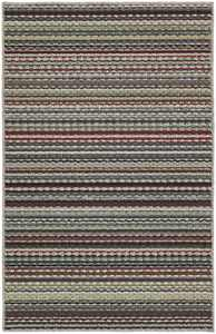 Garland Rug Carnival Stripe Random Multi Color 5'x7' Indoor Area Rug