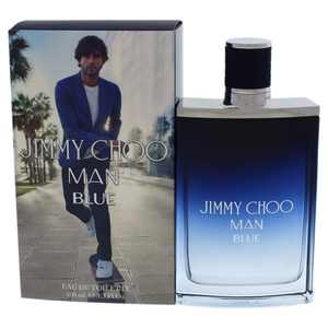 ($92 Value) Jimmy Choo Man Blue Eau De Toilette Spray, Cologne for Men, 3.3 Oz