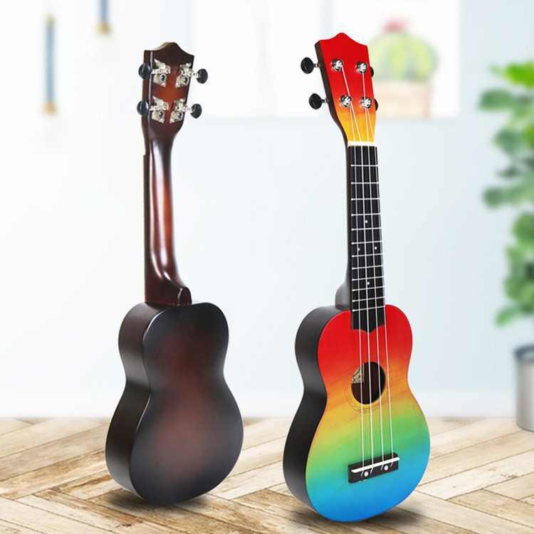 21inch Kids Wooden UKulele 4 String Portable Guitar Instrument for Children Pick Stringed Instruments Musical Toy for Kids