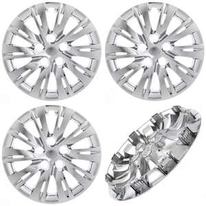 """CoverTrend (Set of 4 Pack) fits 2007 - 2017 TOYOTA CAMRY 16"""" INCH Replica - CHROME PLATED Hub Caps - Wheel Covers - Cap (Replaces 4262102120, 4260206091)"""
