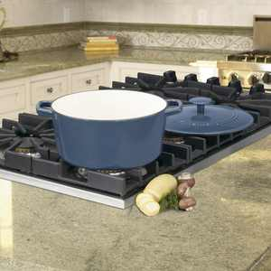 Cuisinart Chef'S Classic Enameled Cast Iron 5 Qt. Round Covered Casserole-Provencal Blue