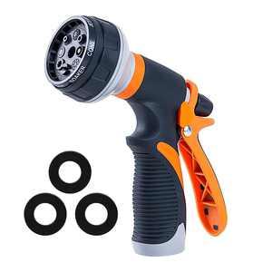 High Pressure Garden Hose Nozzle Hand Sprayer 8 Pattern Adjustable Wash Nozzle