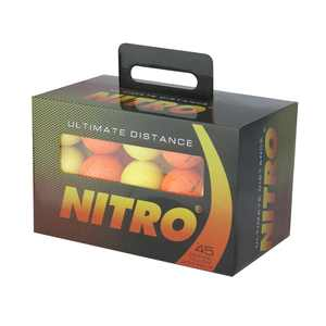 Nitro Golf Ultimate Distance Golf Balls, Assorted Colors, 45 Pack