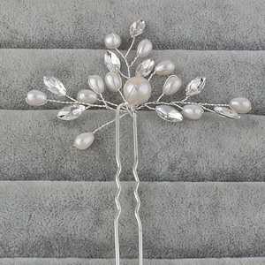 Willstar Hair Pin Clip Comb Hair Accessories Wedding Flower Bridal Crystal Rhinestones Crystal Pearls