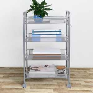 UBesGoo 4 Tier Organizer Metal Rolling Storage Shelving Rack Kitchen Wire Shelf