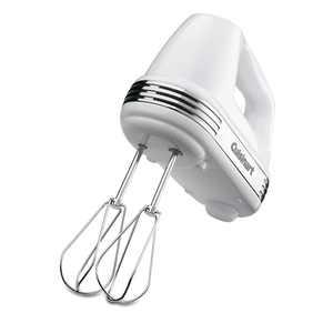 Cuisinart Power Advantage PLUS 5-Speed 220-Watt Hand Mixer, White