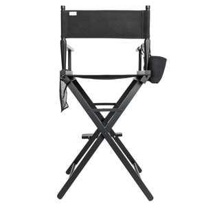 "UBesGoo Hot Directors Chair 30"" Canvas Tall Seat Black Wood Makeup Folding Chair"