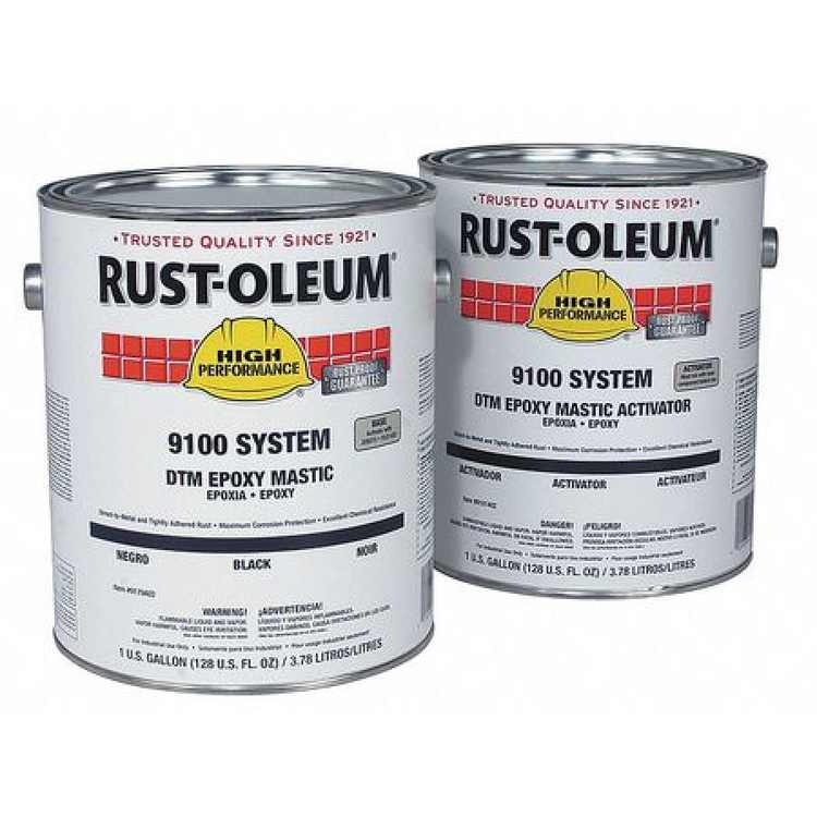 RUST-OLEUM 9122402-2402 Epoxy Activator and Finish Kit, Marlin Blue, Semi-gloss, (2) 1 gal, 100 to 175 sq ft/gal