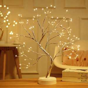 """Amerteer 20"""" Tabletop Bonsai Tree Light with 108 Pearls LED, DIY Artificial Light Tree Lamp Decoration for Gift Home Wedding Festival Holiday (Battery/USB Operated)"""
