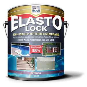 ElastoLock 1 Gal. Gray Exterior Damp-Proof Rubber Membrane Coating and Waterproofer