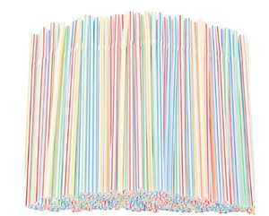300pcs Flexible Plastic Straws Disposable Straws - PA Free Bulk Drinking Suppliers Perfect for Parties/Bar/Beverage Shops/Home Straws for Kids and Adults