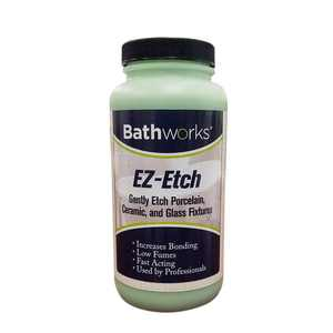 BATHWORKS 16 oz. EZ Etch Porcelain, Ceramic, and Glass Etching Paste Kit