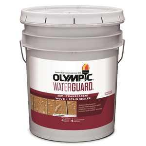Olympic WaterGuard 5 gal. Acorn Brown Semi-Transparent Wood Stain and Sealer