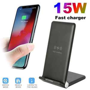 Willster 15W Fast Mobile Phone Charger Qi Wireless Charger Pad Charging Station for Iphone 11 Pro Max X Xs Xr 8plus 8