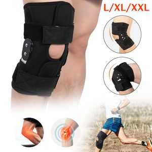 Aluminum Hinged Knee Brace Support Women Men, Adjustable Open Patella Stabilizer for Sports Trauma, Sprains, Arthritis, ACL, Meniscus Tear Injury Recovery, Ligament Injuries, Right, Left Leg, L/XL/XXL