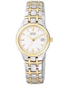 Women's Eco-Drive Two Tone Stainless Steel Bracelet Watch 25mm EW1264-50A