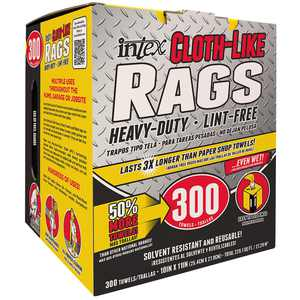 Intex 10 in. x 11 in. Cloth-Like Rags (300-Pack)