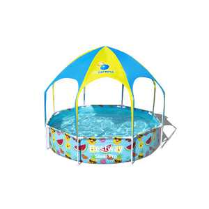 Bestway - Steel Pro UV Careful Splash-in-Shade Round Above Ground Pool Set